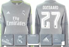 *15 / 16 - ADIDAS ; REAL MADRID AWAY SHIRT LS / ODEGAARD 27 = SIZE*