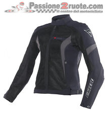 Giacca Donna Dainese Air Crono Tex Lady Nero Nero Dark-Gull-Gray Moto Jacket
