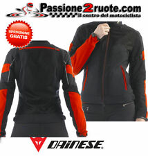 Giacca Donna Dainese Air-Frame Tex Lady Nero Rosso Moto Jacket