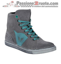 Scarpe Donna Dainese Street Biker Lady Air Grigio Acquamarina Moto Shoes