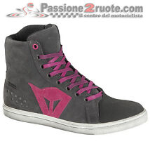 Scarpe Donna Dainese Street Biker Lady D-WP Antracite Fucsia Moto Shoes
