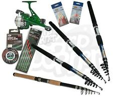 Carp Coarse & Sea Travel Fishing Rod & Reel Set up Fishing Rod 6, 8, 10 or 12ft