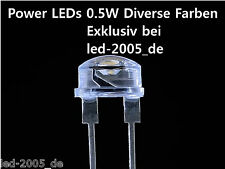 Power LED 8mm 150mA 0.5 Watt Weiß,Warmweiß,Blau,Rot,Amber,Grün,LED 1W,LED 3W,SMD