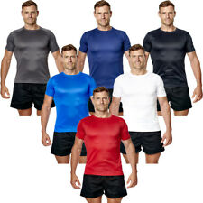 Mens T Shirt Gym Sports Fitness Active Wear Running Performance Top Tee