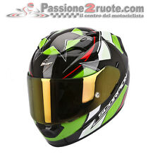 Casco integrale moto Scorpion Exo 1200 Air Stella Nero Verde
