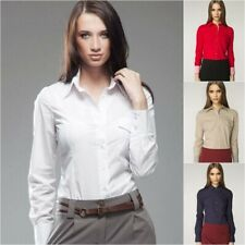 Chemise blanche femme manches longues mode NIFE K36 36 38 40 42 44