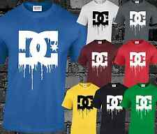 DEATH OF DC SHOES DYING BLEEDING INSPIRED LOGO T-SHIRT DESIGN BRAND NEW TOP