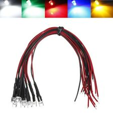 LEDs 3mm / 5mm / 10mm Red Blue Green Yellow White 20cm pre-wired non flashing