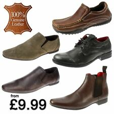 Boys Leather Casual Formal School Smart Shoes Boots Lace Slip On 1 2 3 4 5 6