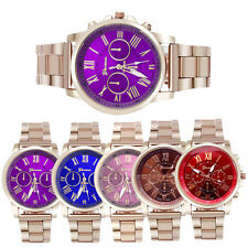 Luxury Womens Watches Geneva Stainless Steel Quartz Dial Wrist Watch