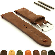 Suede Genuine Leather Retro Style Watch Strap Band Blacksmith Plus Spring Bars