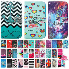 For Alcatel Phone Model - Folio Flip Card PU Leather Wallet Case Hybrid Pouch