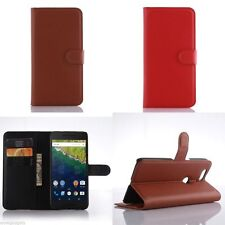"""Litchi Texture Wallet Stand Case Leather Flip Cover for Huawei Nexus 6P 5.7"""""""
