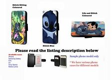 Lilo and Stitch Ohana leather wallet phone case Samsung,Iphone,HTC,Sony Xperia