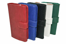 PU Leather Wallet Pouch Diary Case+Card Holder For Micromax Canvas Juice A77