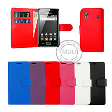 Leather Wallet Book Flip Phone Case For Samsung Galaxy Ace - S5830