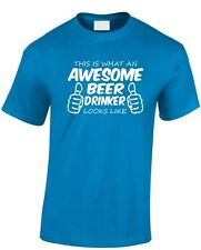 This is What an Awesome Beer Drinker looks like T shirt New Funny Christmas Gift