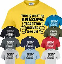 This is What an Awesome Tractor Driver  looks like T shirt Funny Christmas Gift