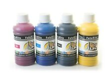 Heat transfer Pigment ink ciss ink refill 4 x 100ml fits with Epson WF, SX