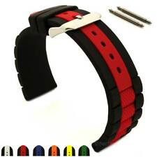 Two-colour Silicone Rubber Waterproof Watch Strap Band FORTE Spring Bars