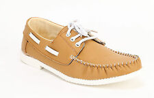 Quarks Men's Stylish Casual Boat Shoes - Beige  Color - Q1009BE