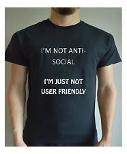 Funny Printed T Shirt Anti Social Not User Friendly Christmas Present Joke
