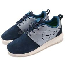 Wmns Nike Roshe One PRM Suede Rosherun Navy Womens Running Shoes 820228-400
