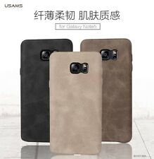 USAMS Brand BOB Series Vintage PU Leather Back Case For Samsung Galaxy Note 5