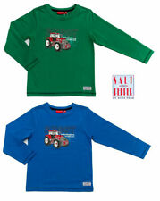 Salt & Pepper Langarmshirt Traktor Rot Stickerei