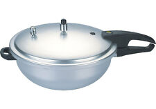 Wok Style Pressure Cooker 7Ltr Hard Anodized Material Commercial By Kitchen King