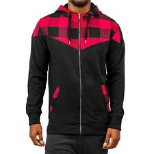 Just Rhyse Checked  Zip Hoody Black Herren Kapuzen Pullover Jacke