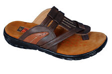 Medifeet Brand Mens Leather Brown Dr Soft  Sandal MF-556