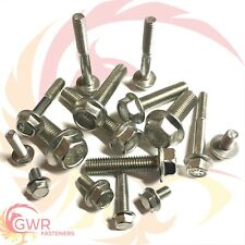 M5 M6 M8 M10 Hexagon Flange Set Screws - Hex Head  - A2 Stainless Steel Metric