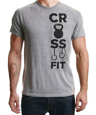 Crossfit Functional Training WOD Fitness Strength Workout Grey Shirt Big Sizing