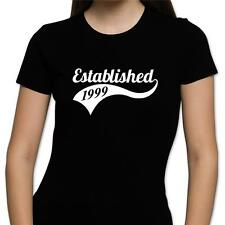 GIFT BOXED Established 1998 18th Birthday Present Gift Retro Fun Womens T Shirt