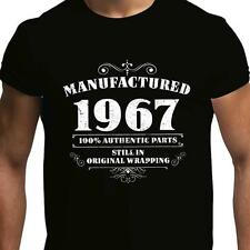 GIFT BOXED Manufactured 1966 Vintage Retro Mens 50th Birthday Present T Shirt