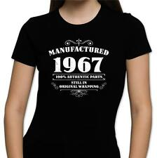 GIFT BOXED Manufactured 1966 Vintage Retro Womens 50th Birthday Present T Shirt