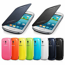 GENUINE SAMSUNG GALAXY S3 Mini i8190 i8195 FLIP CASE COVER 100% ORIGINAL PACK