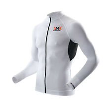 - X-Bionic Maglia Maniche Lunghe The Trick Biking Shirt Long LS Full Zip, White/