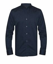 French Connection Mens Floral Medieval Blue Shirt