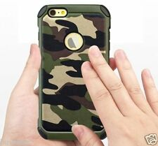 CamouFlage Leather ShockProoF Armor Cover Case For iPhone SE iPhone 5 5s Cover