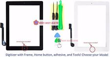 Touch Glass Screen Digitizer Replacement part with Home button Frame for ipad 4
