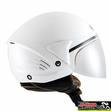 CASCO scooter DEMI JET KYT by Suomy mod COUGAR varie taglie Bianco