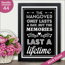 Hangover Alcohol PERSONALISED Wedding Signs - Vintage Chalkboard Style Signs
