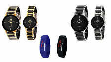 IIK COLLECTION Men and Women Couple Wrist Watches Combo - Set of 2