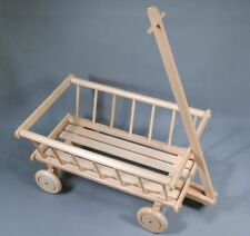 TRADITIONAL TOY WOODEN Wooden RACK wagon. Toy cart