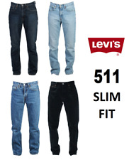 Genuine LEVIS MENS 511 Slim Fit Levi Original Jeans Blue Black Denim