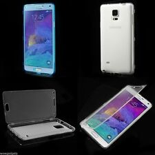 Touchable Folio Flip TPU Case Flip Cover for Samsung Galaxy Note 4 N910