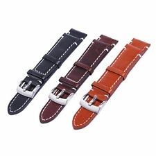 Leather Watch Strap Band TWISTER Mens Stainless Steel Buckle Band Strap 18-20mm