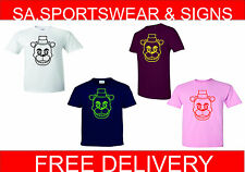 ADULTS AND KIDS FIVE NIGHTS AT FREDDYS BEAR LOGO XBOX PS3 SIZES XS - XXL T SHIRT